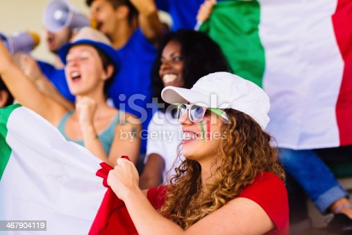 537894724 istock photo italian female suppporter at stadium 467904119
