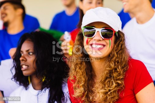 537894724 istock photo italian female suppporter at stadium 467907023