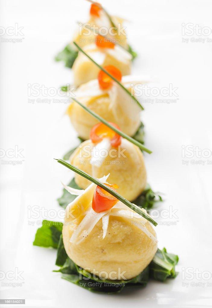 Italian Fine Dining Appetizer stock photo
