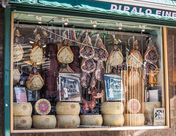 Italian Fine Foods, Little Italy, New York City, United States stock photo