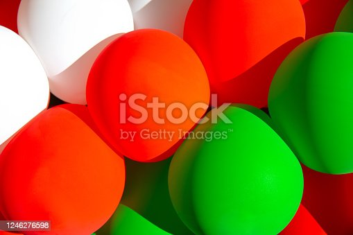 Italian Flag Background Balloons