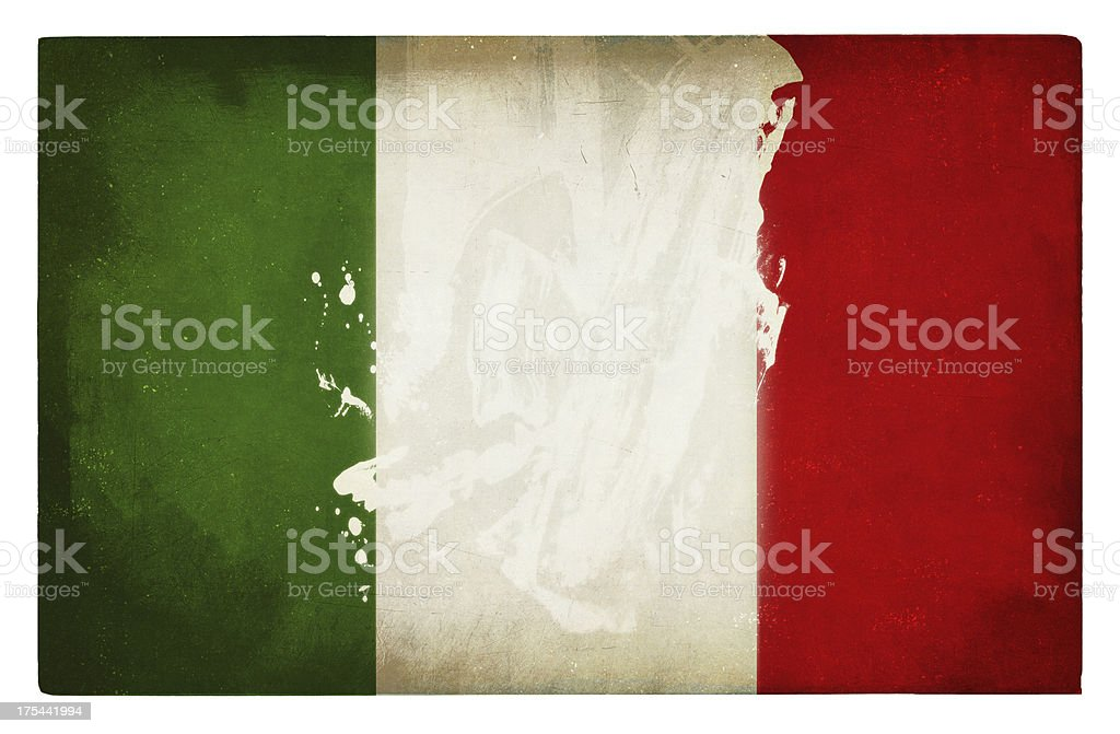 italian flag grunge royalty-free stock photo