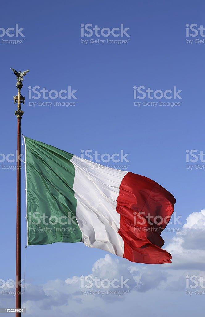Italian flag in Rome royalty-free stock photo