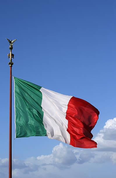 Italienische Flagge in Rom – Foto