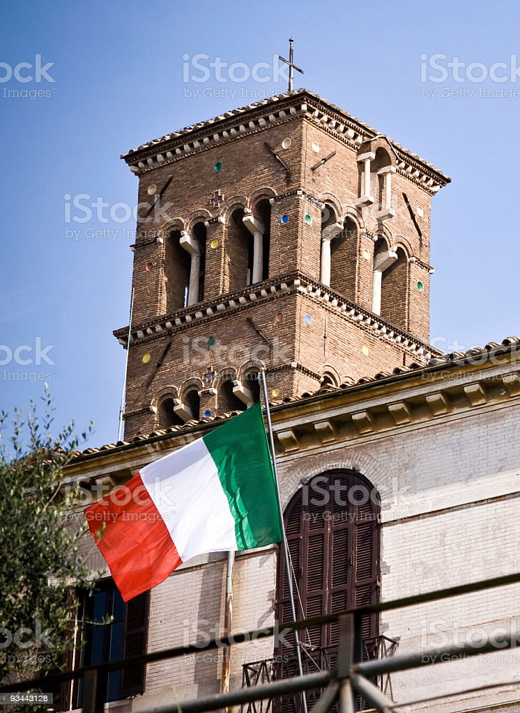 Italienische Flagge in Rom Lizenzfreies stock-foto
