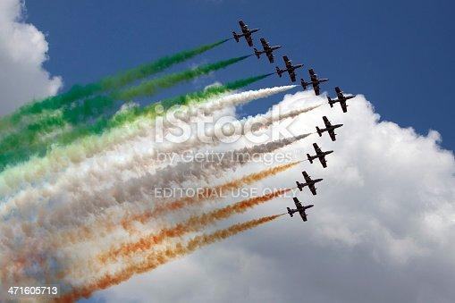 istock italian flag in the air 471605713