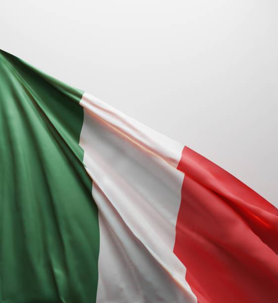 italiensk flagga, italien nationella färger bakgrund < < 3d-rendering > > - italy poster bildbanksfoton och bilder