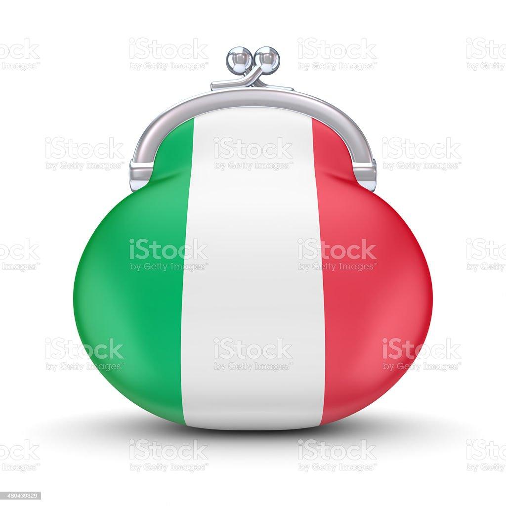 Italian flag on a wallet. royalty-free stock photo