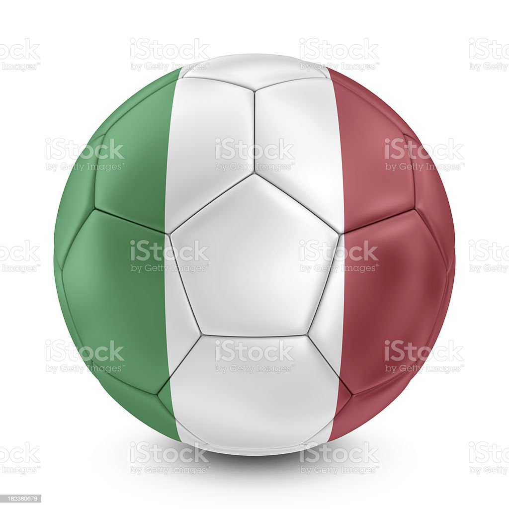 italian flag on football royalty-free stock photo