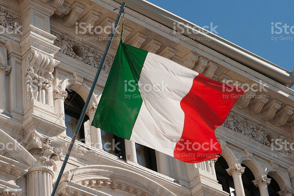 Bandiera dell'Italia - Foto stock royalty-free di Italia