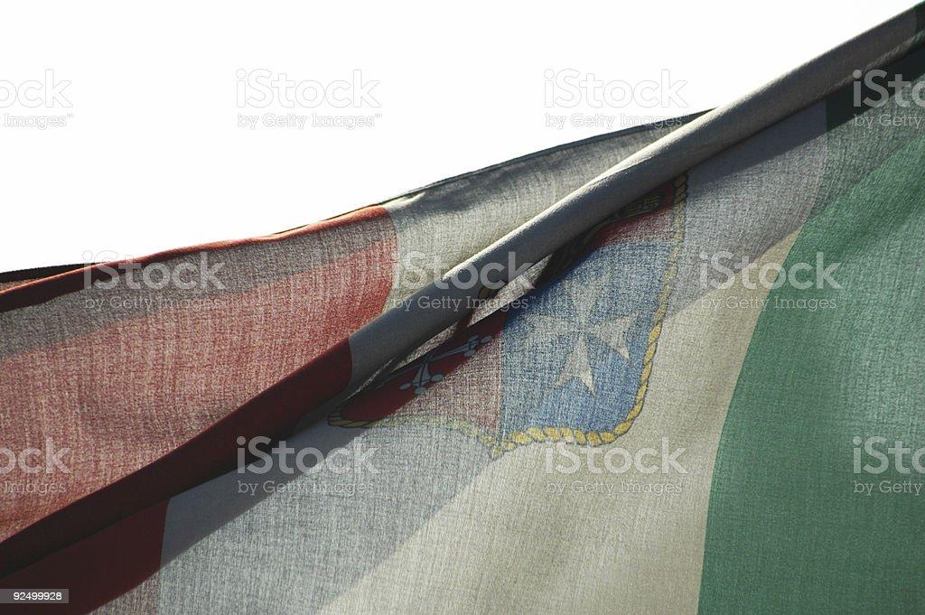 Italienische Flagge Lizenzfreies stock-foto