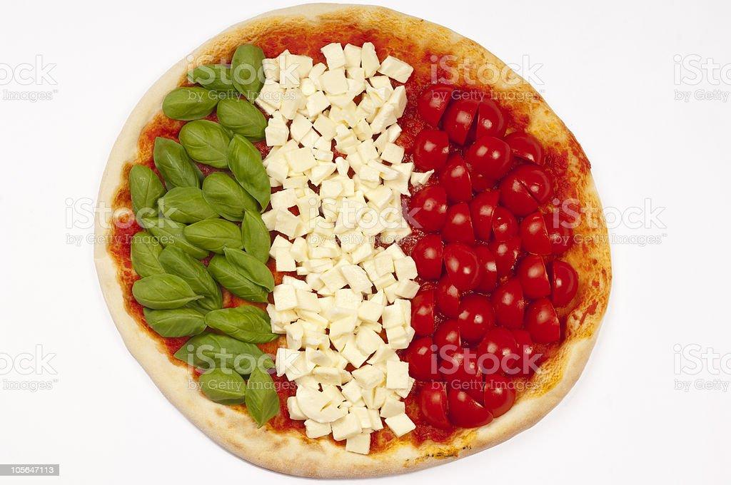 italian flag pizza stock photo