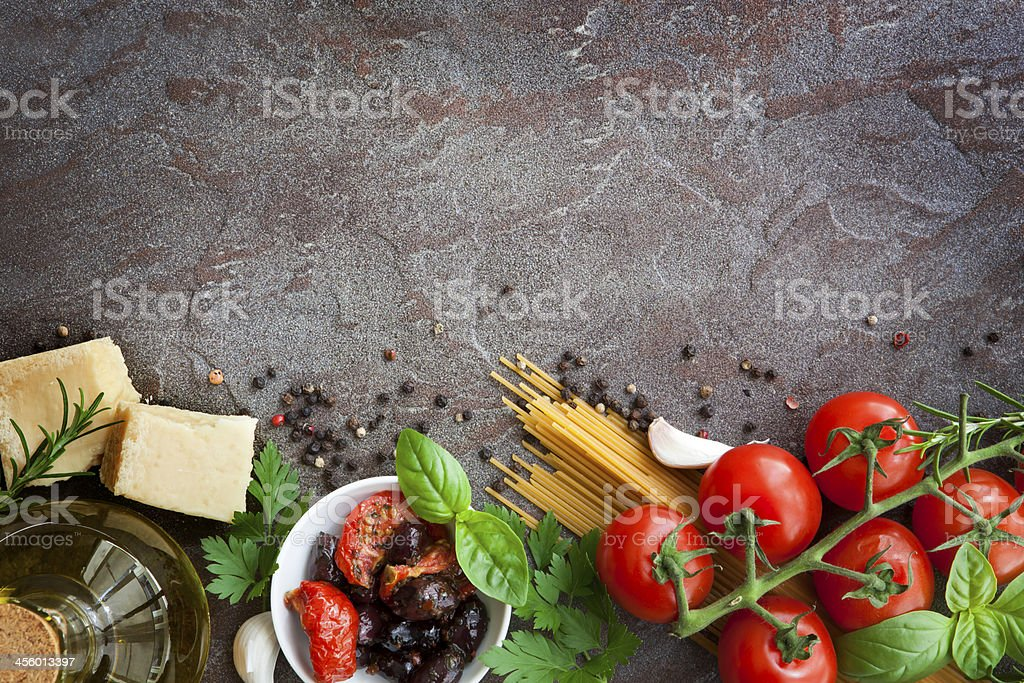 Italian Food Background stock photo