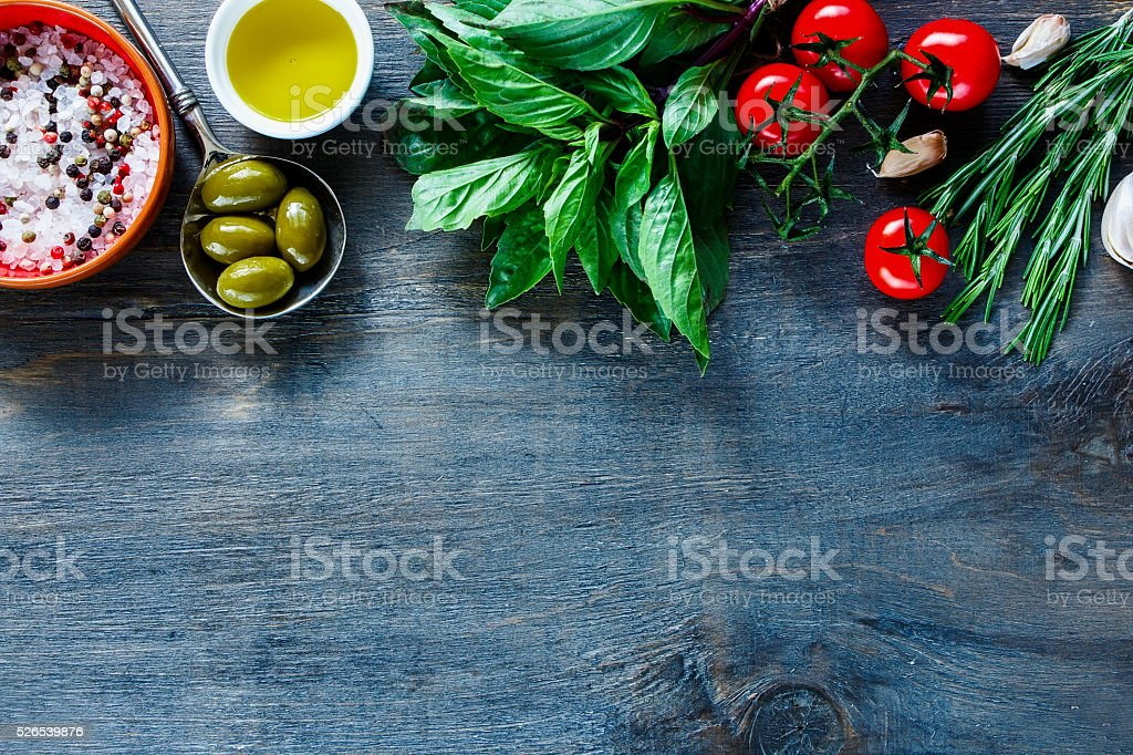 Italian food background stock photo