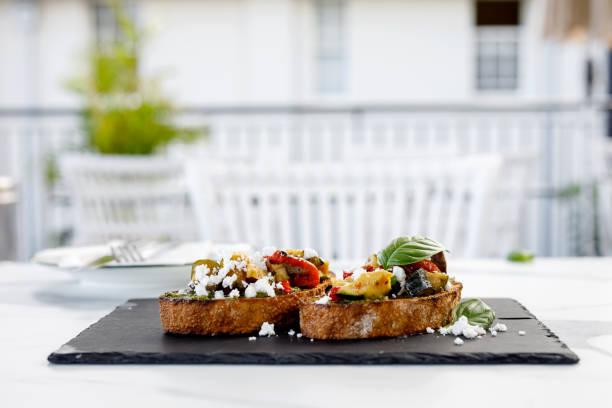 Italiensk mat-bruschetta bildbanksfoto