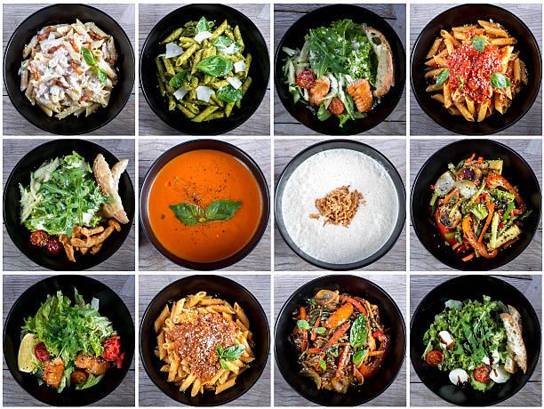 Italian food collage stock photo