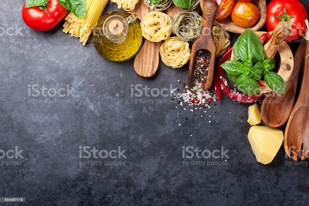 Italian food cooking stock photo