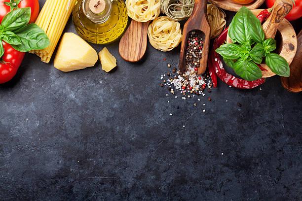 Italian food cooking stock photo