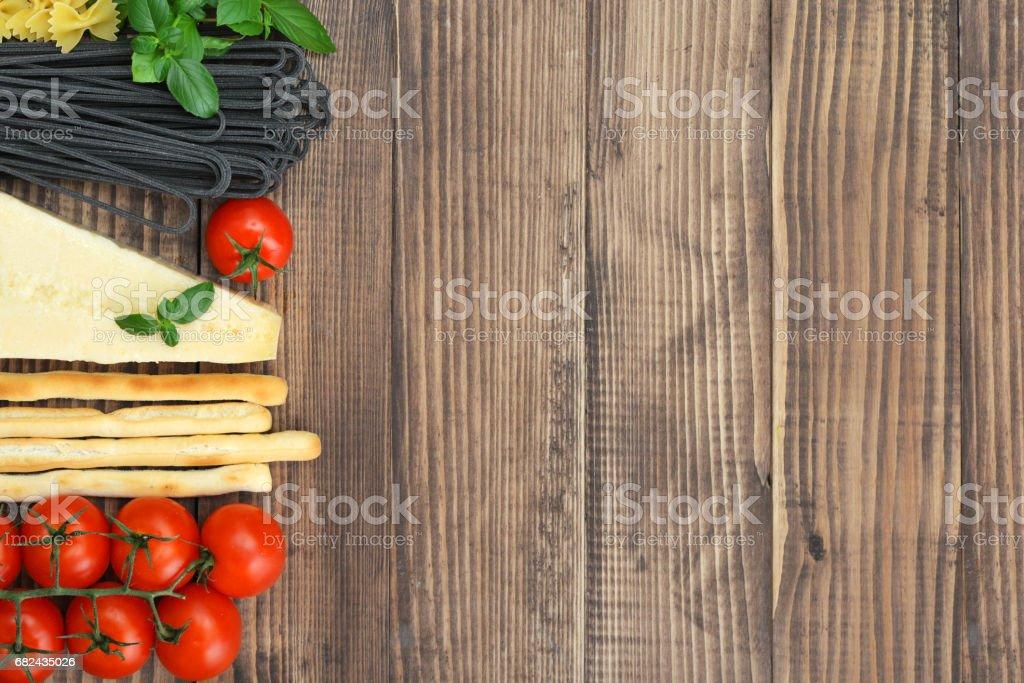 Italian food ingredients royalty-free stock photo