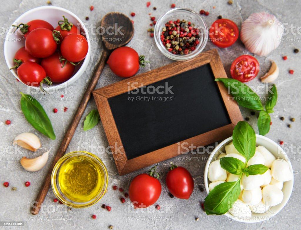 Italian food ingredients zbiór zdjęć royalty-free
