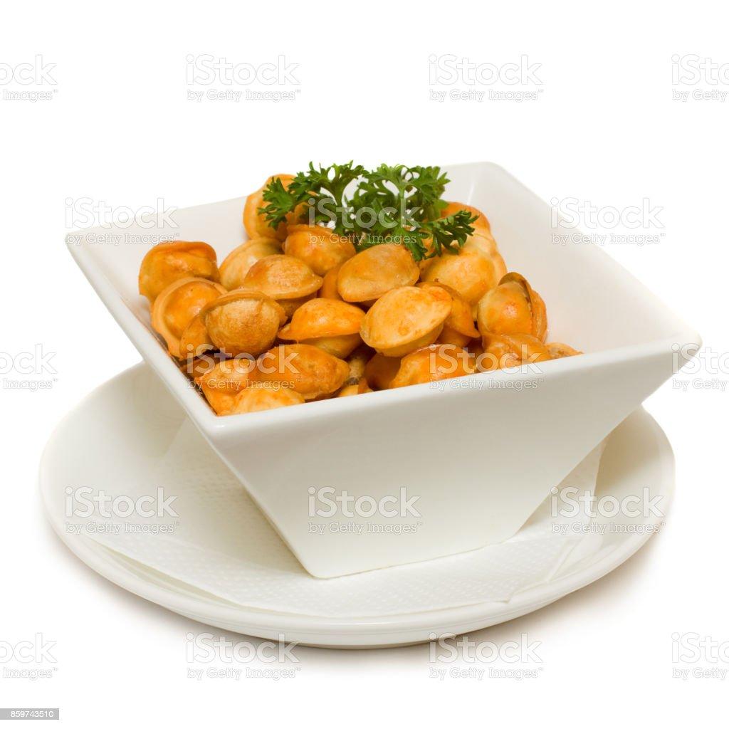 Italian Food Isolated on White stock photo
