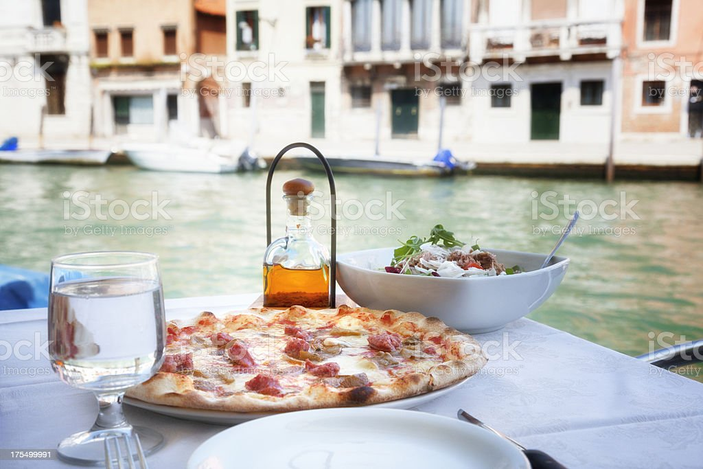 Italian Food: Pizza in Venice stock photo