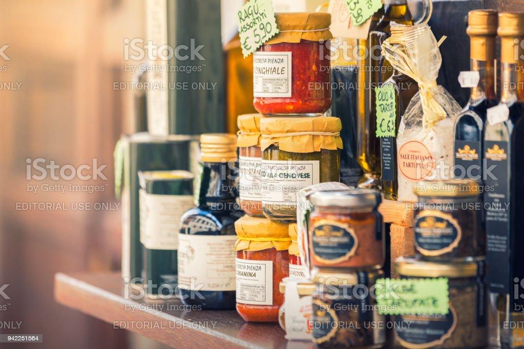 Italian food products stock photo