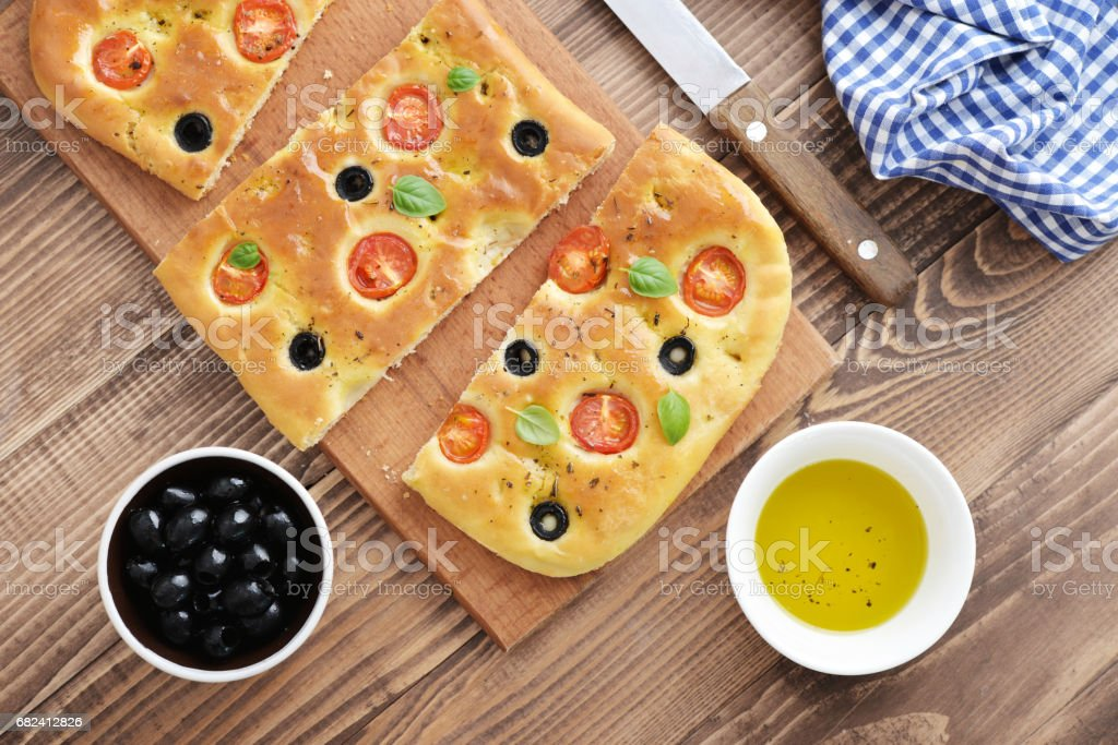 Italian food -  traditional focaccia royalty-free stock photo