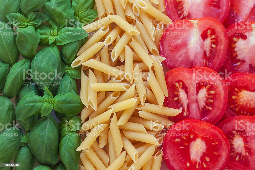 italian food with background stock photo