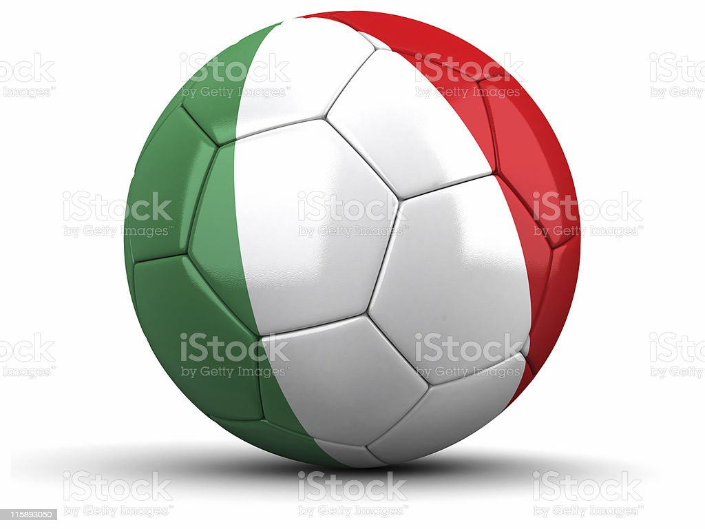 Italian Football royalty-free stock photo