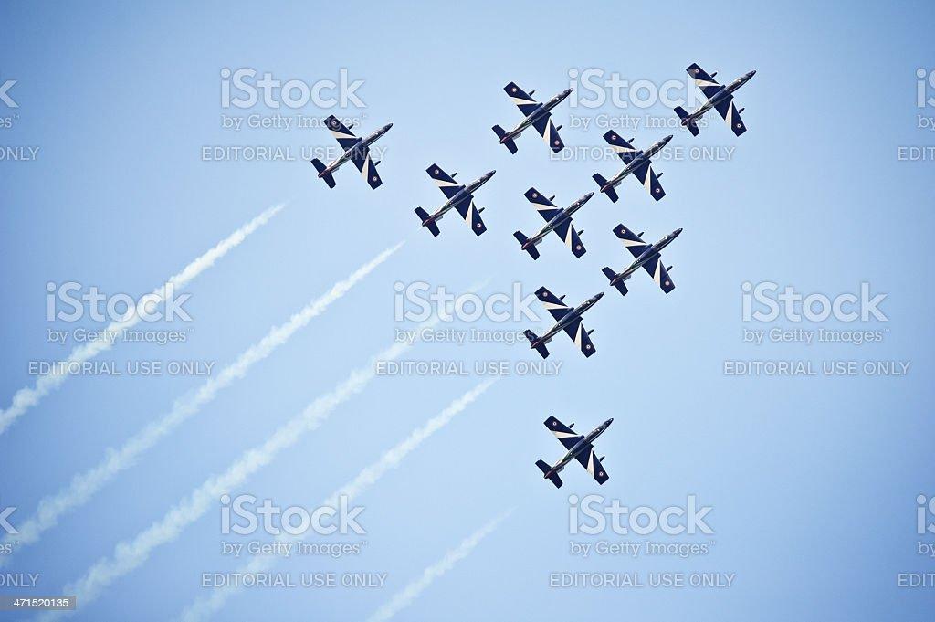Italian Frecce Tricolori aerobatics team stock photo