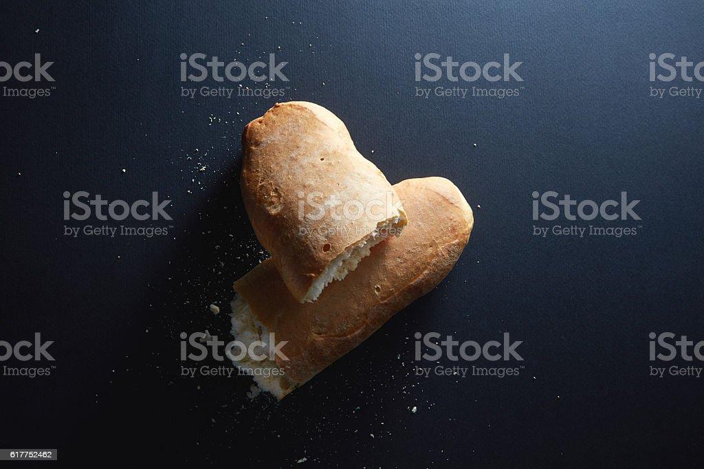 Italian fresh bread stock photo
