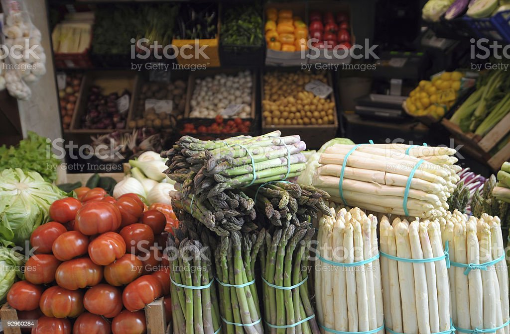 Italian fruit and vegetable market royalty-free stock photo