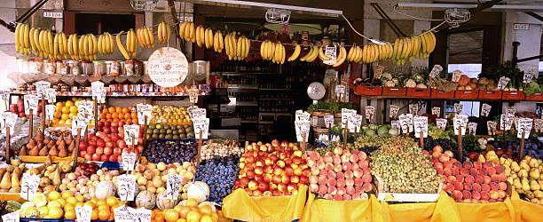 Italian fruit stand. stock photo