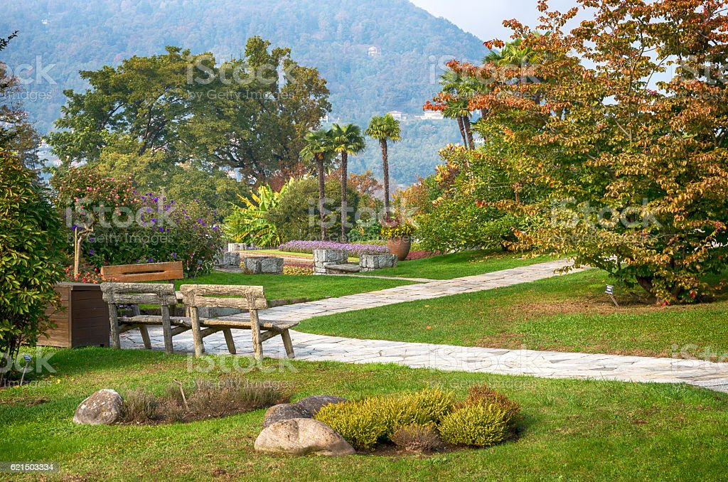 Italian garden in Autumn foto stock royalty-free