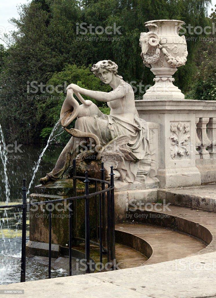 Italian Gardens Hyde Park stock photo