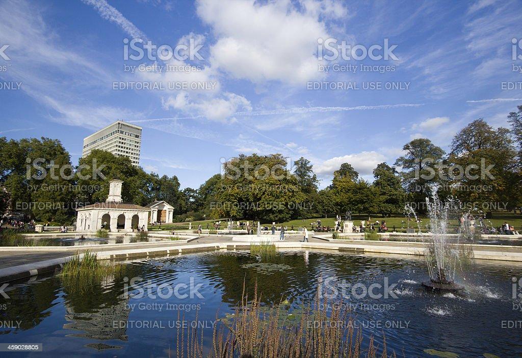 Italian Gardens in London, England royalty-free stock photo