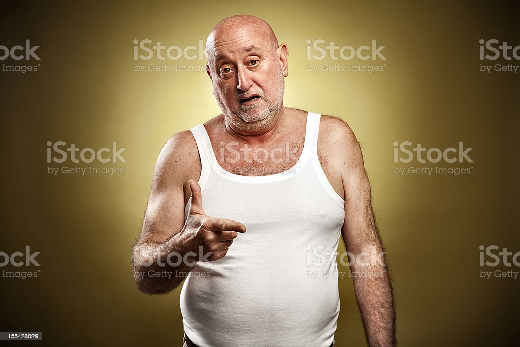Italian gesture series: 'Finished (No More)' royalty-free stock photo