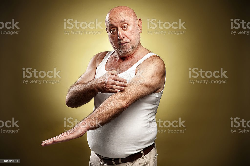 Italian gesture series: 'This long...' stock photo