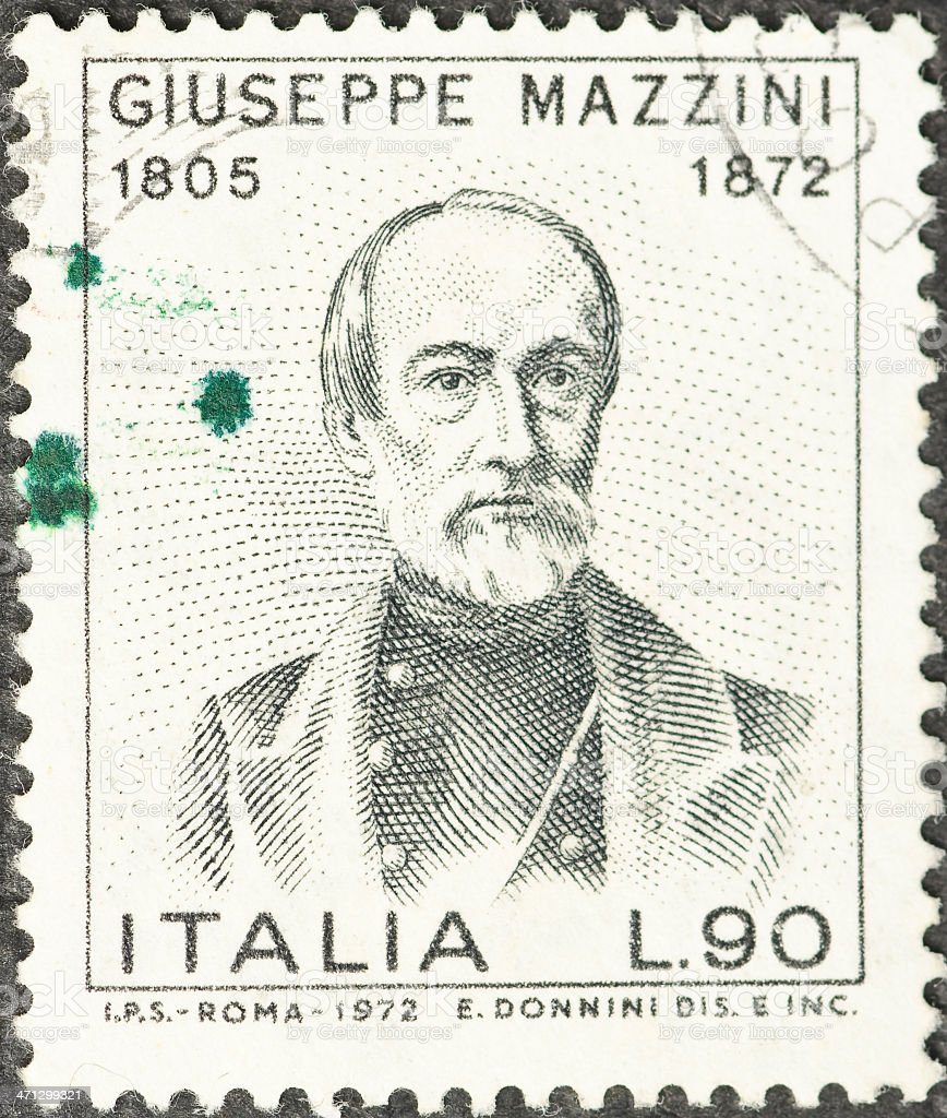 Italian Giuseppe Mazzini Postage Stamp royalty-free stock photo