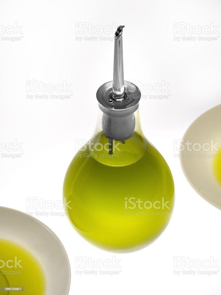 Italian green  olive oil royalty-free stock photo