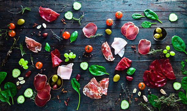 Italian ham stock photo