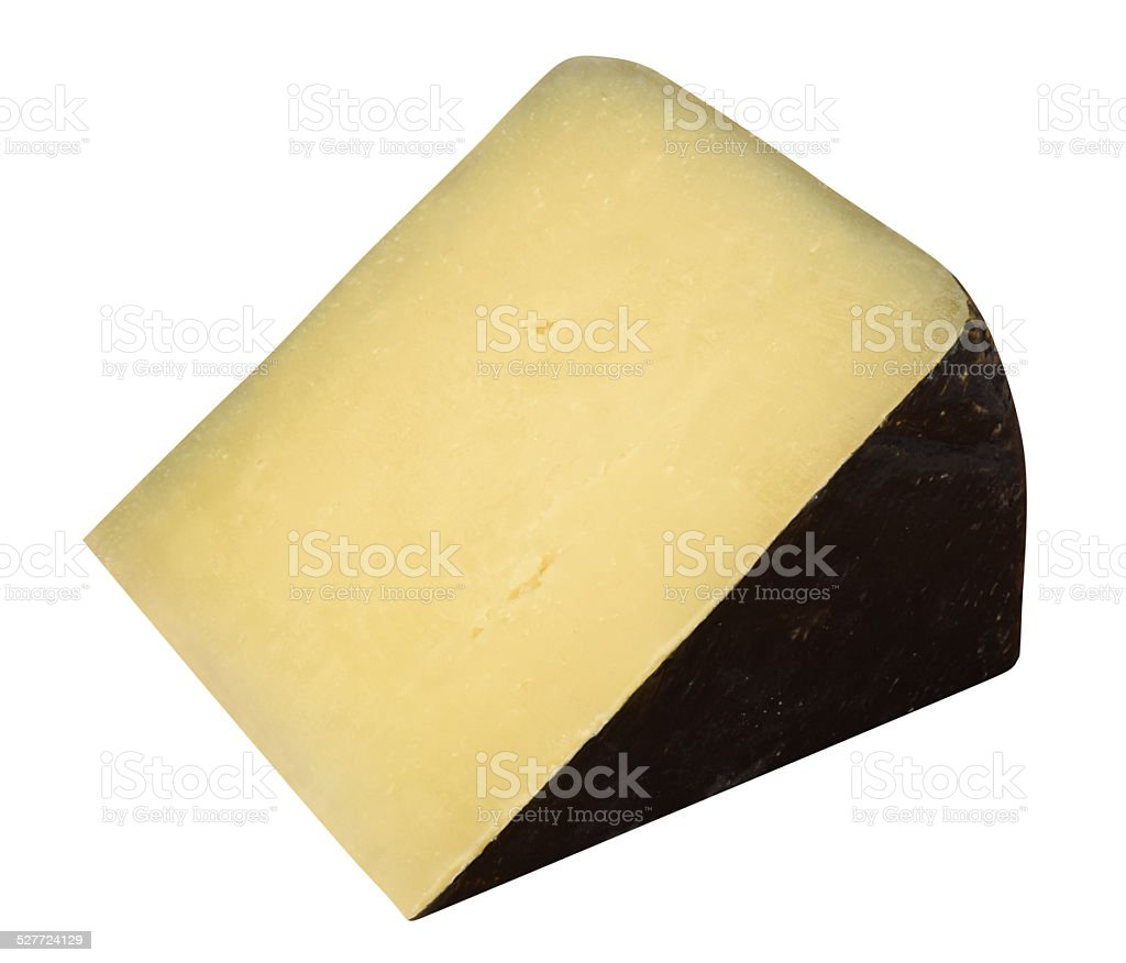 Italian hard cheese stock photo