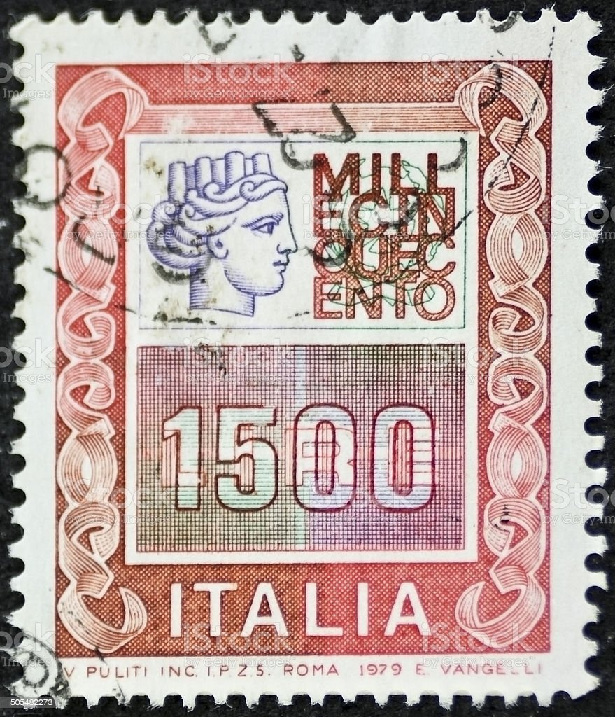 Italian high value postage stamp ter stock photo