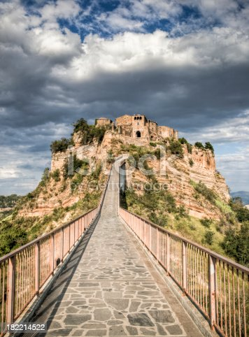 Civita is a very old town in central Italy which sits on top of a plateau.