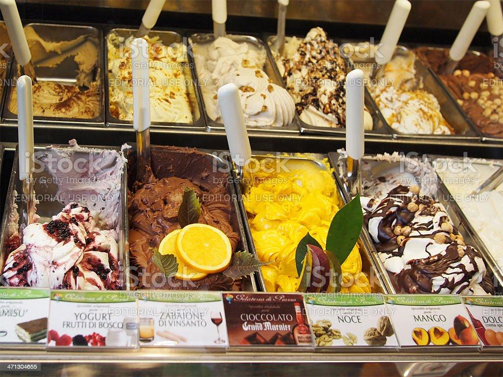 Italian ice cream stock photo