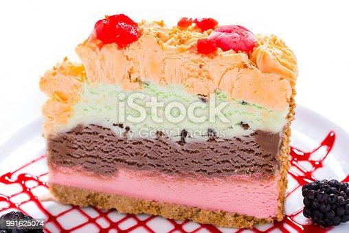 Italian ice cream close up