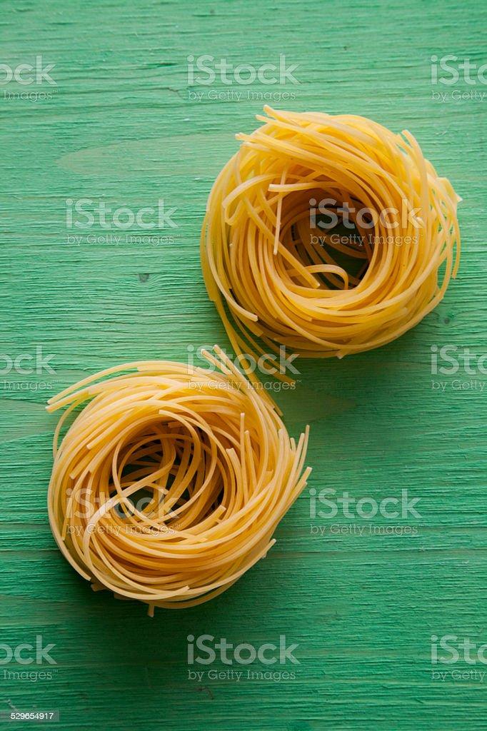 Italian Ingredient. Pasta: Tagliolini stock photo