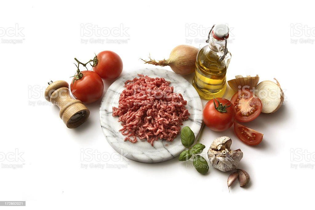 Italian Ingredients: Bolognese royalty-free stock photo