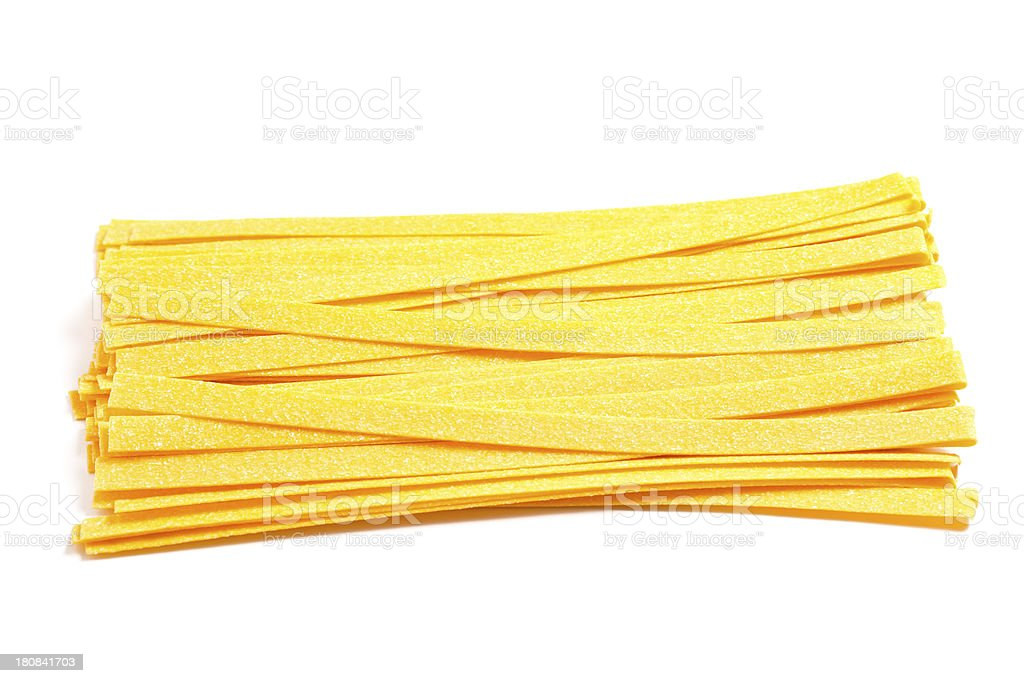 Italian Ingredients: Fettuccine stock photo